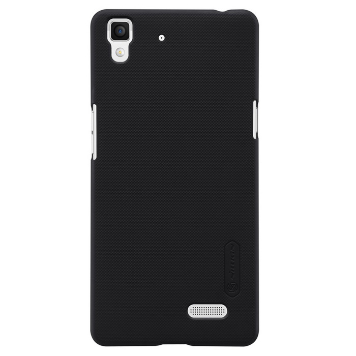 NILLKIN Protective Plastic Back Case w/ Screen Protector for OPPO R7 - Black