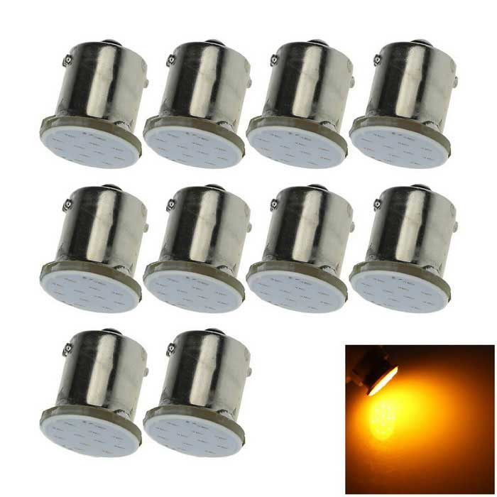1156 2W COB LED luces traseras luces traseras bombilla amarillo 577nm 50lm (10PCS)