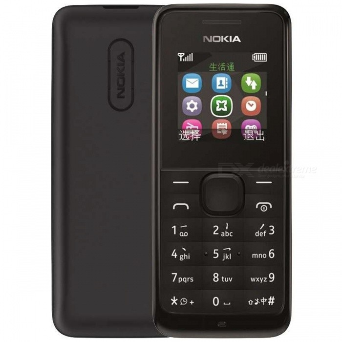 "Nokia 1050 (RM-1120) GSM Cellphone w/ 1.8"" TFT LCD, 8MB ROM - Black"