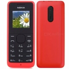 "Nokia 1050 (RM-1120) GSM Cellphone w/1.8"" TFT LCD, Dual Band, FM, MP3 Player / TF Slot - Red"