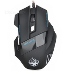 Wellrui R18 Wired 168A 6-Key 2400DPI USB 2.0 LED Gaming Mouse - Black