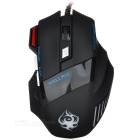 Wellrui R18 Wired 168A 7-Key 2400DPI USB 2.0 LED Gaming Mouse - Black