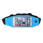 Mini Smile Outdoor Sports Adjustable Nylon Waistband Bag Case Pouch for IPHONE 6 PLUS - Blue + Black