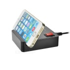4-Port USB 2.0 Charger Hub w/ Switch & Phone Stand - Black (US Plugs)
