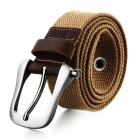 Unisex Casual Canvas Belt w/ Pin Buckle - Light Brown