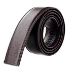 Men's Cow Split Leather Waistband Belt w/o Buckle - Brown (118cm)