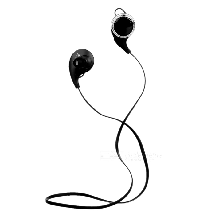 USB Powered Bluetooth In-Ear Stereo Earphones w/ Mic. - Black