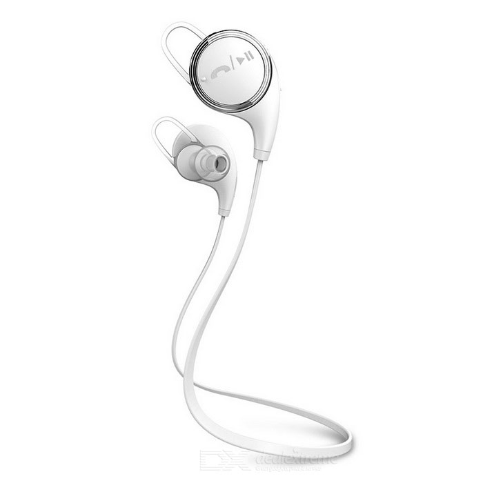 USB Powered Bluetooth In-Ear Stereo Earphones w/ Mic. - White