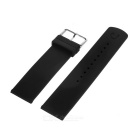 Silicone Watch Band w/ Connecting Pins for Samsung R380, R381 - Black