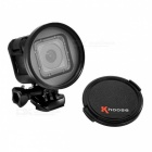 58mm CPL Polarizing Camera Lens Filter w/ Lens Cap for GoPro Hero 4 Session - Black