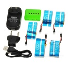 750mAh Battery + 1-to-5 Charger + TOL Adapter + More Set - Multicolor
