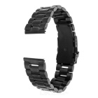 Mini Smile Watchband w/ Connectors for Samsung R380/R381/R382 - Black