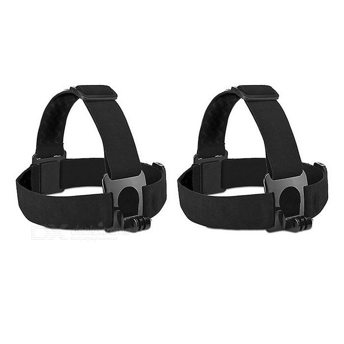 Head Strap Band Camera Mount Holder for GoPro - Black (2PCS)