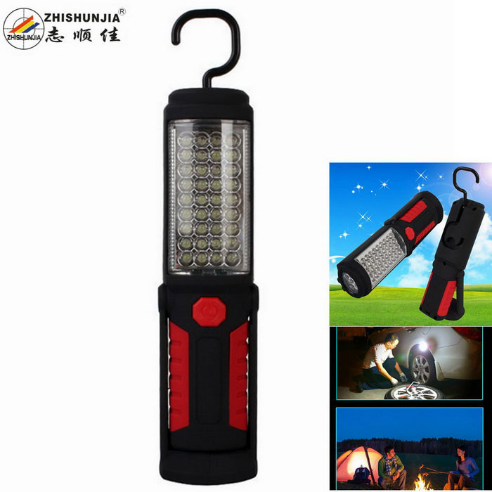 ZHISHUNJIA 36 + 5 LED 500lm 2-Mode Cool White Outdoor Camping Lamp Lantern w/ Compass - Black + Red(SKU 405555)