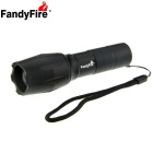 FandyFire A100 LED 900lm 5-Mode White Zooming Flashlight Set - Black (1 x 18650 / 3 x AAA)