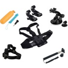 9-in-1 Sports Camera Accessories Kit for GoPro Hero 4/3/3+/ SJ4000 / SJ5000 / SJCam / Xiaoyi - Black