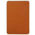 Toothpick Grain Pattern Protective PU + PC Case w/ Stand for IPAD MINI 1 / 2 / 3 - Brown