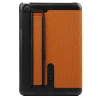 Toothpick Grain Protective Case w/ Stand for IPAD MINI - Brown