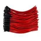 18AGW Speaker Horn Leadwire for Motorcycle - Black + Red (12cm/95PCS)