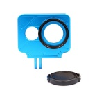 PANNOVO CNC Protector Frame Case + 37mm UV Filter for Xiaomi Xiaoyi - Blue