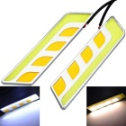 Marsing 2-in-1 10W White & amp; Yellow Light COB LED Auto Tagfahrlicht & amp; Steering-Lampe (2 PCS)
