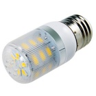 E27 7W 630lm 24-5730 SMD 3000K Warm White LED Corn Light w/ Strip Cover (AC 200-240V)