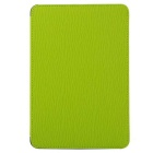 Toothpick Grain Pattern Protective PU + PC Case w/ Stand for IPAD MINI 1 / 2 / 3 - Green