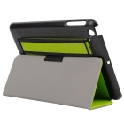 Toothpick Grain Protective Case w/ Stand for IPAD MINI - Green