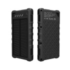 Universal 30000mAh Dual USB Solar Power Bank for IPHONE 5S / IPHONE 6 / IPHONE 6 PLUS + More - Black