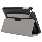 Toothpick Grain Protective Case w/ Stand for IPAD MINI - Grey + Black