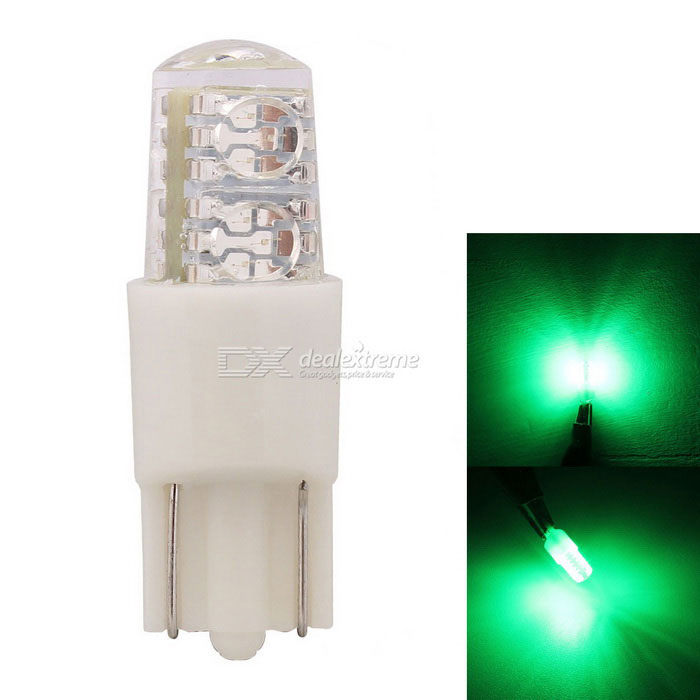 MZ T10 2W LED Car Clearance Lamp / License Plate Light Green 4-SMD
