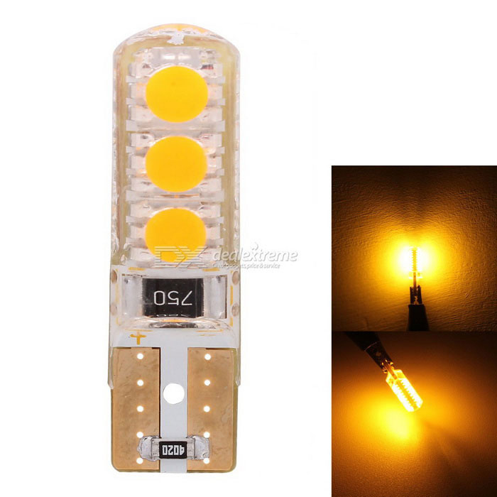MZ T10 3W Car LED Side Turn Signal / Clearance Light Orange 6-SMD