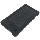 Itian S8 8000mAh Li-Polymer Battery Solar Power Bank - Black