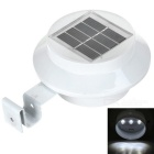 Outdoor 3-LED Solar Lamp White Light 6500K for Garden / Eave / Fence Decoration - White (2V)
