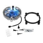 Ultra-Silence Universal CPU Cooling Fan for Desktop - Silver + Blue