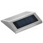 Mini 0.12W Warm White LED Solar Powered Garden Lamp - Black + Silver