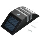 Solar Powered impermeable 0.4W SMD LED PIR lámpara de sensor de movimiento - Negro