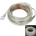 JRLED Waterproof 48W 300-5050 SMD 4000lm 6500K White Light LED Light Strip (AC 220V / 5M)