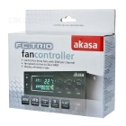 Akasa FC.TRIO 3-CH Fan Controller w/ Temperature Monitor, Alarm -Black