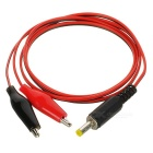 DIY Alligator Clip Connector to DC 4 x 1.7 Male Test Cable - Black + Red + White (80cm)