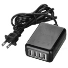 5V 2.5A 4-USB 2.0 Charger for IPHONE 6 / HTC / Tablet PC - Black