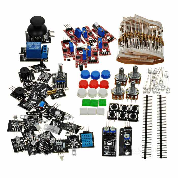 Kit de sensores 37-en-1 para arduino - negro + multi-color