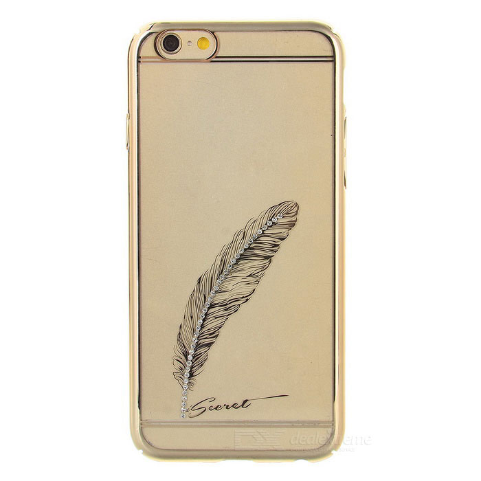 11c662a3f iSecret Diamante Silkprint Sickle Feather Case for IPHONE 6 - Golden - Free  Shipping - DealExtreme