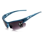 ROBESBON PC Explosion-proof Lense High Elastic Frame Cycling Glasses - Sky Blue + Blackish Green