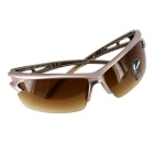 ROBESBON Cycling Explosion-proof Zinc Alloy Lens Glasses - Brown + Tan