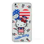 Hello Kitty TPU achterkant van de behuizing cover voor iPhone 6 PLUS - multi-color