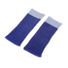Universal Woolen Yarn Sock Style Cover for IPHONE 6 / 6 PLUS / Samsung Note 5 - Blue + Grey (2PCS)