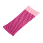 Universal Woolen Yarn Sock Style Cover for IPHONE 6 / 6 PLUS / Samsung Note 5 - Deep Pink (2PCS)