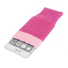 Woolen Yarn Sock Style Cover for IPHONE 6 / 6 PLUS - Deep Pink (2PCS)