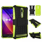 "Rugged Tyre Pattern TPU + PC Hard Back Cover Case for 5.5"" Asus ZenFone 2 ZE551ML / ZE550ML - Green"